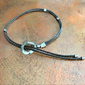 Vintage Lariat Brown Leather Belt